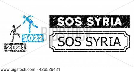Mosaic 2022 Business Steps Organized From Rectangle Elements, And Black Grunge Sos Syria Rectangle S
