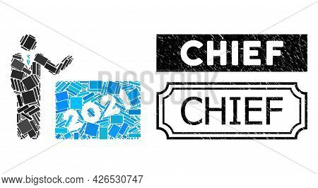 Collage 2021 Showing Man United From Rectangle Parts, And Black Grunge Chief Rectangle Badge With No