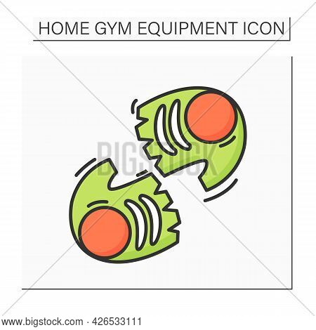 Gym Gloves Color Icon. Perfect Grip Fitness Gear. Concept Of Home Heavy Weight Training, Sports Clot