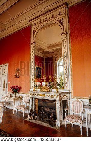 Velke Brezno, Czech Republic, 26 June 2021: Neo-renaissance Chateau Velke Brezno, Castle Interior, B