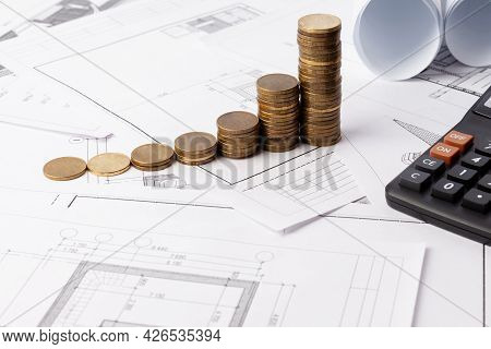 Rising Design Prices, Rising Construction Prices. Copy Space