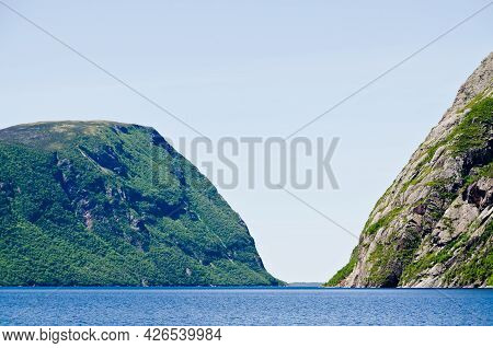 Picture Of Western Brook Pond, Newfoundland, Canada