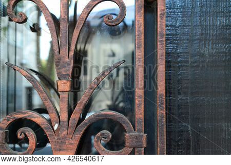 Fragments Of Forged Decor Elements, Decorative Forged Products.