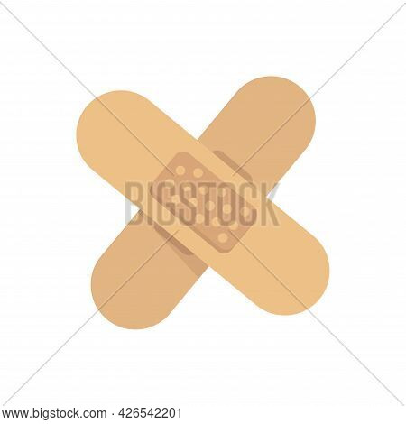 Wound Patch Clipart Flat Icon. Vector Illustration.