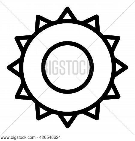Summer Sun Icon Outline Vector. Morning Sunshine. Solar Sunbeam