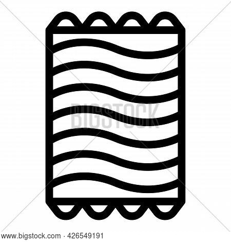 Inflatable Mattress Icon Outline Vector. Air Pool Bed. Sea Water Float Mat