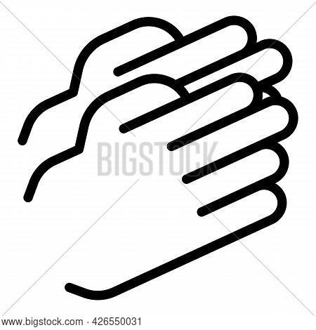 Handclap Icon Outline Vector. Hand Clap. Encourage Applause