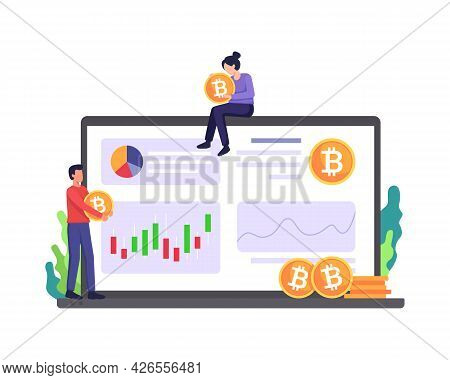 Cryptocurrency Marketplace Illustration