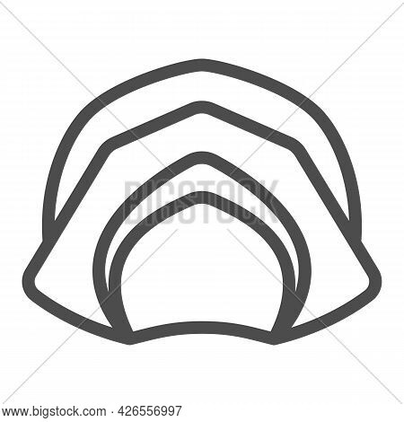 Farmer Hat For Women Line Icon, Headware Concept, Thanksgiving Lady Pilgrim Bonnet Vector Sign On Wh