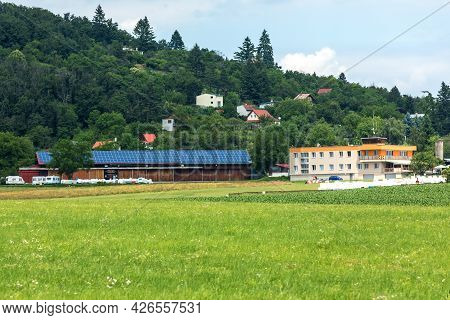 Brno, Czech Republic - July 4, 2021: Small Sports Airport Medlanky, Founded In 1924. Recreational An