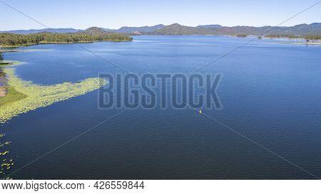 Aerial Over Water Catchment Environment Of Teemburra Dam, Queensland, Australia