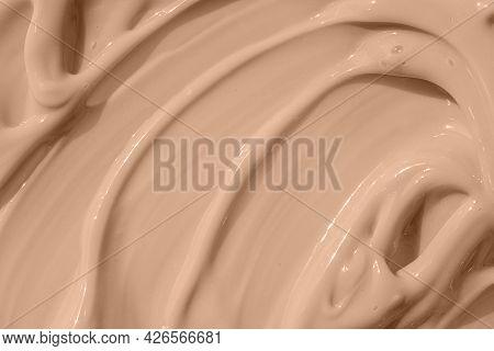 Cosmetic Tonal Makeup Moisturizer, Bb Cream Swatch. Beige Nude Liquid Foundation Smear, Concealer Te
