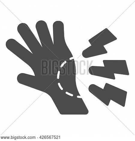 Wrist Pain Solid Icon, Officesyndrome Concept, Wrist Pain Vector Sign On White Background, Human Han