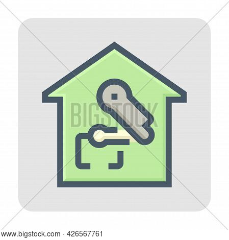 Smart Home Or Home Automation Vector Icon. Consist Of Home Or House And Robot Or Robotic Arm. That M