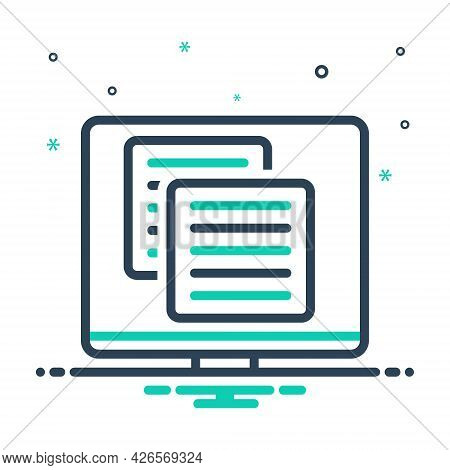 Mix Icon For Application Web Site Coding Software Website Programming Technology