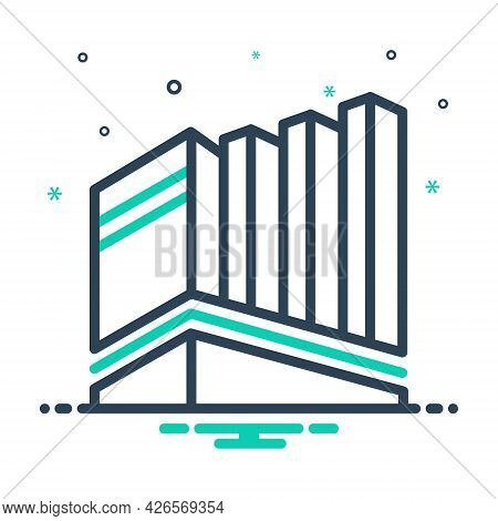 Mix Icon For Building  Office-building Office Building  Corporate Architecture