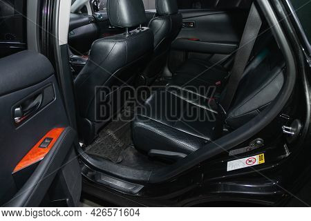 Novosibirsk, Russia - June 29, 2021: Lexus Rx, Car Passenger And Driver Seats With Seats Belt.