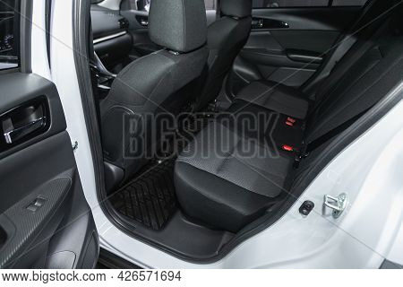 Novosibirsk, Russia - June 29, 2021: Mitsubishi  Eclipse Cross, Car Passenger And Driver Seats With