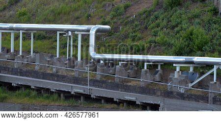 Industrial landscape in South Norway. June 20,2018.Sarpsborg , Norway
