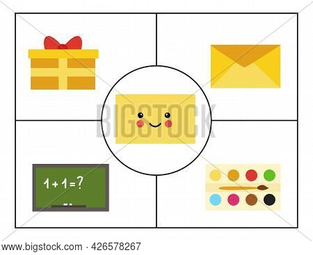 Learning Basic Geometric Forms For Children. Cute Rectangle.