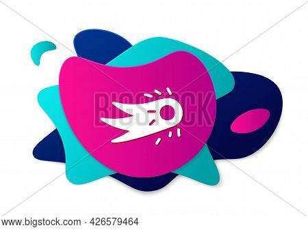 Color Fireball Icon Isolated On White Background. Abstract Banner With Liquid Shapes. Vector