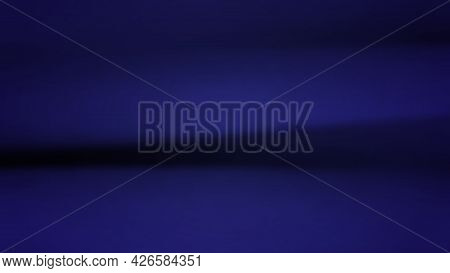 Abstract Background With Crumpled Cloth. Dark Blue Realistic Silk Texture With Empty Space. Vector I