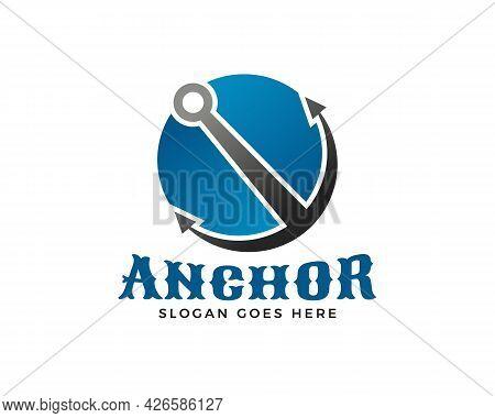 Anchor Logo Icon Design Template, Anchor Logo