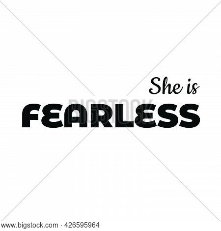 Christian T Shirt Design - She Is Fearless