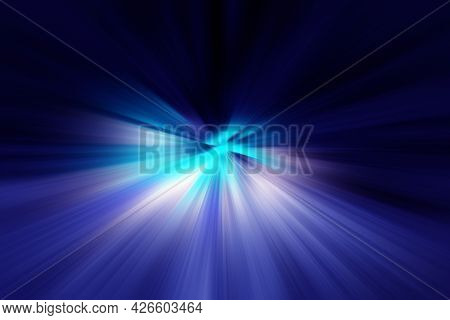 Abstract Radial Blur Zoom Surface In Blue And Lilac Tones. Abstract Lilac Blue Background With Radia