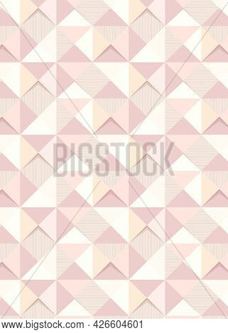 Pink geometric triangle patterned background design resource