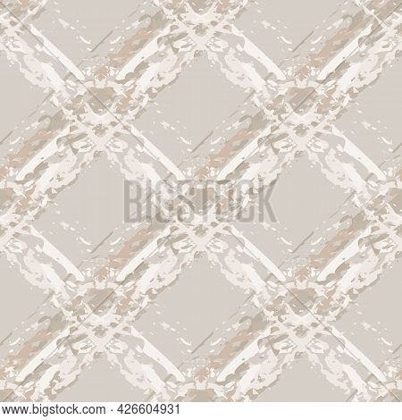 Burlap Texture Natural Beige Vector Seamless Pattern Background. Canvas Texture Fiber Backdrop Diago