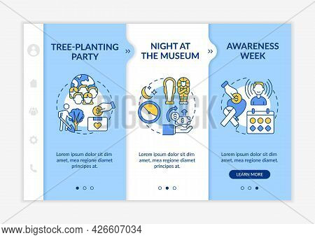Fundraising Campaign Ideas Onboarding Vector Template. Responsive Mobile Website With Icons. Web Pag