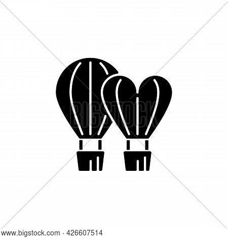 Taiwan International Balloon Festival Black Glyph Icon. Flight Technology. Hot Air Balloons. Taiwane
