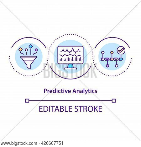 Predictive Analytics Concept Icon. Data Mining Techniques. Machine Learning Technologies. Automation
