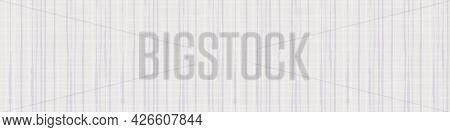 Burlap Texture Ribbon Vector Seamless Border. Canvas Textured Banner Pastel Grey Lilac Plaid Painter
