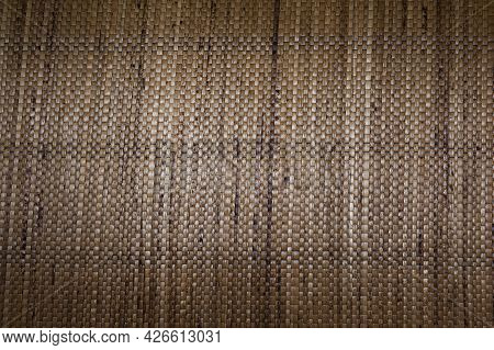 Resembling Brown Woven Leather From Plant Fibers, Brown Wovave Carpet From Plant Fiber