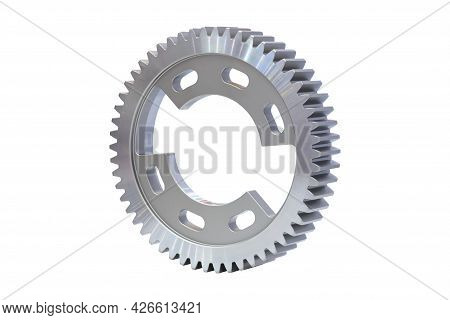 Industrial Metal Gear Cog Part, A Cog Made From Metal Material For Use On Machinery Or Vehicles, Iso