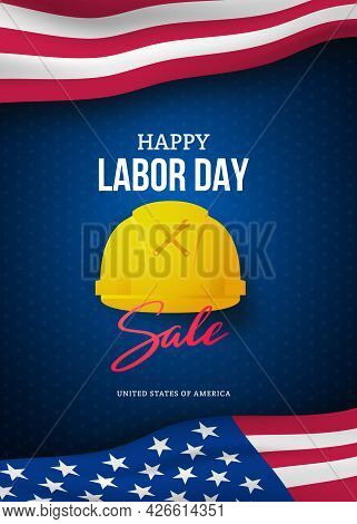 Happy Labor Day Sale Advertising Banner Template. Template Design Of Labor Day Discount Flyer With A