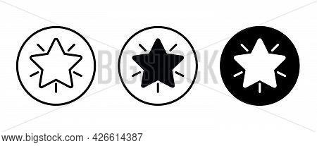 Star Shape Icon Button, Vector, Sign, Symbol, Logo, Illustration, Editable Stroke, Flat Design Style