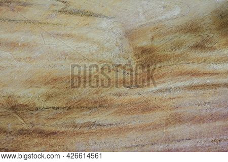 Close-up Large Hardwood Plank With Detail, Texture And Pattern Of Skin Wood Nature Background, Brown