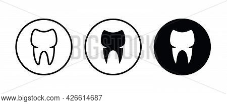 Tooth Icon, Dental Care Element Of Dentistry Icons Button, Vector, Sign, Symbol, Logo, Illustration,