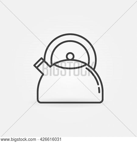 Kettle Outline Vector Concept Icon Or Symbol