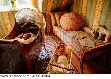 Velke Brezno, Czech Republic, 26 June 2021: Chateau Velke Brezno, Castle Interior Of Children's Room