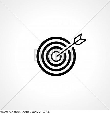 Target Sign. Darts Sign. Darts Isolated Simple Vector Icon