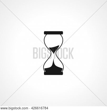 Hourglass Sign. Hourglass Isolated Simple Vector Icon