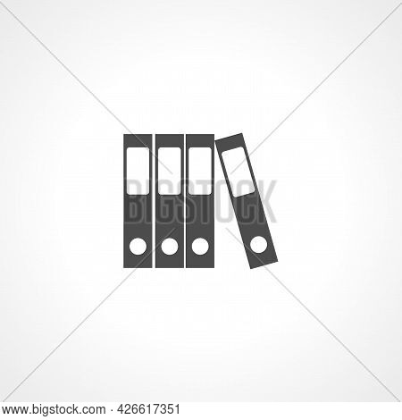 Row Of Binders Sign. Binder Isolated Simple Vector Icon