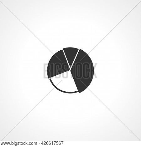 Pie Chart Sign. Pie Chart Isolated Simple Vector Icon