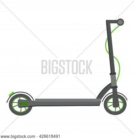 Electric Scooter On A White Background For Use In Web Design Or Clipart