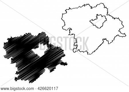 Hof District (federal Republic Of Germany, Rural District Upper Franconia, Free State Of Bavaria) Ma