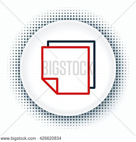 Line Post Note Stickers Icon Isolated On White Background. Sticky Tapes With Space For Text Or Messa